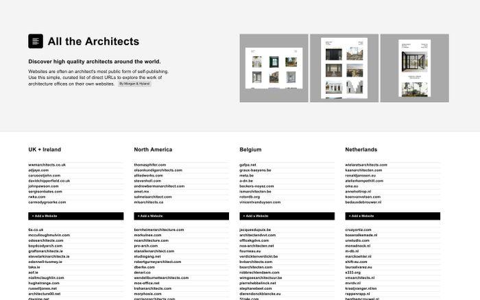 Screenshot of All the Architects