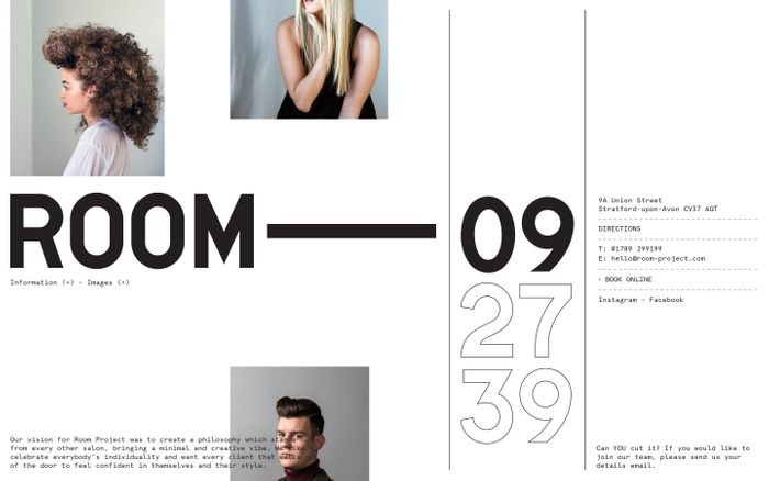 Screenshot of Room Project | Can We Cut It? Yes We Can. website