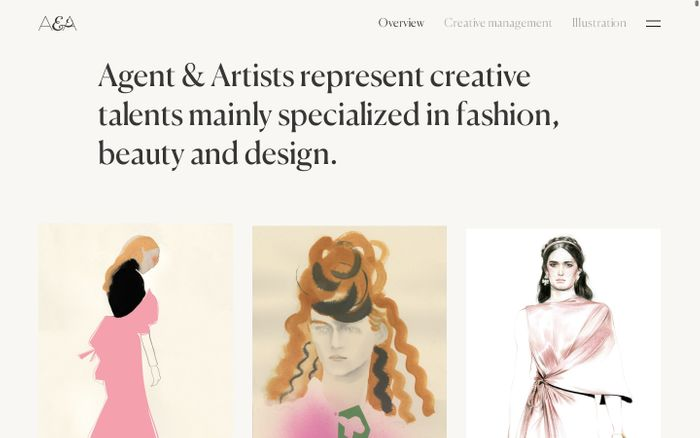Screenshot of Agent & Artists - Agent d'illustrateurs