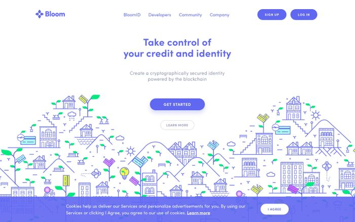 Screenshot of Bloom website