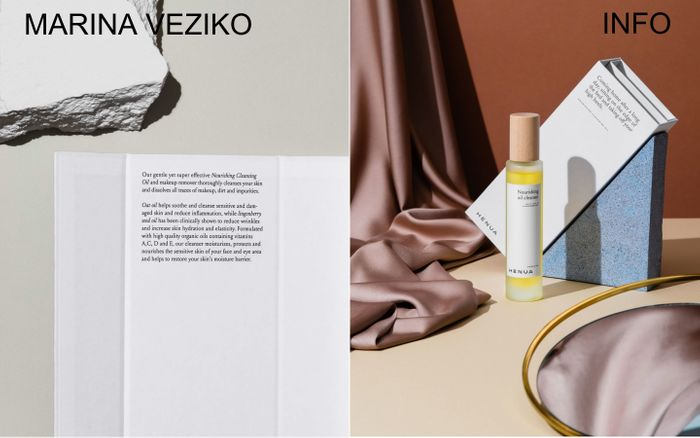 Screenshot of Marina Veziko website