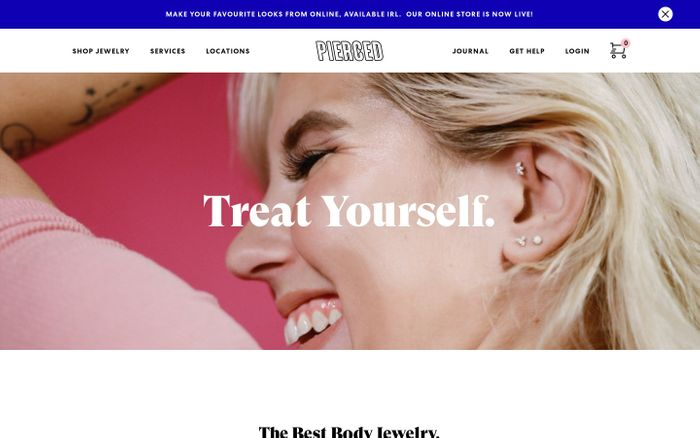 Screenshot of Pierced Newmarket | Pierced by Chronic Ink | Piercing & Body Jewelry