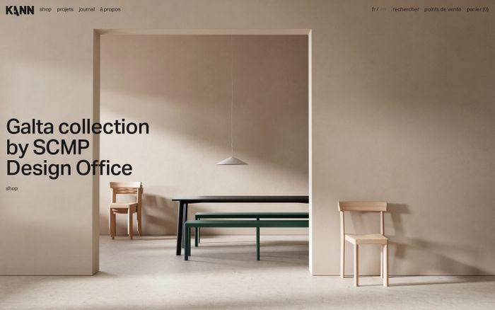 Screenshot of Kann Design website