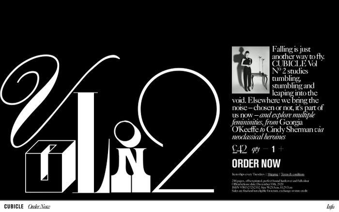 Screenshot of Cubicle Vol No.2 website