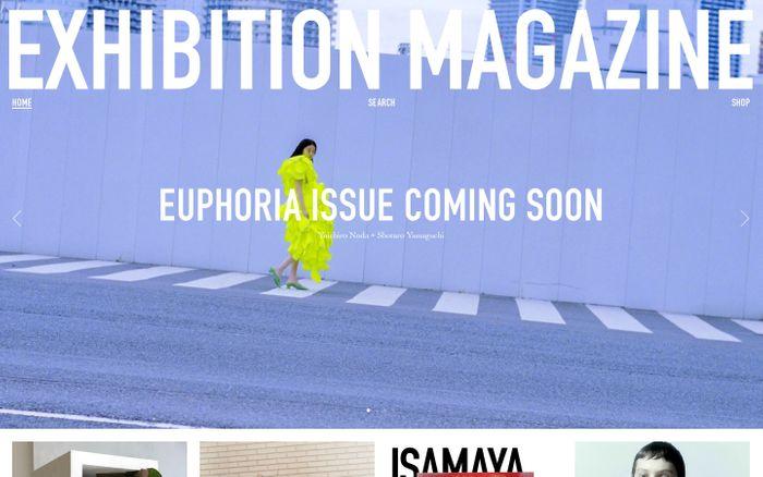 Screenshot of Exhibition Magazine website