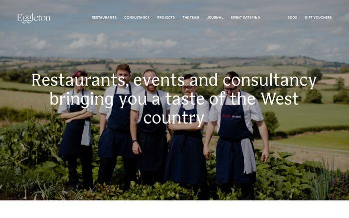 Screenshot of  Eggleton website