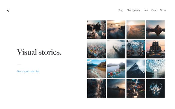 Screenshot of Pat Kay — Travel photographer and visual storyteller