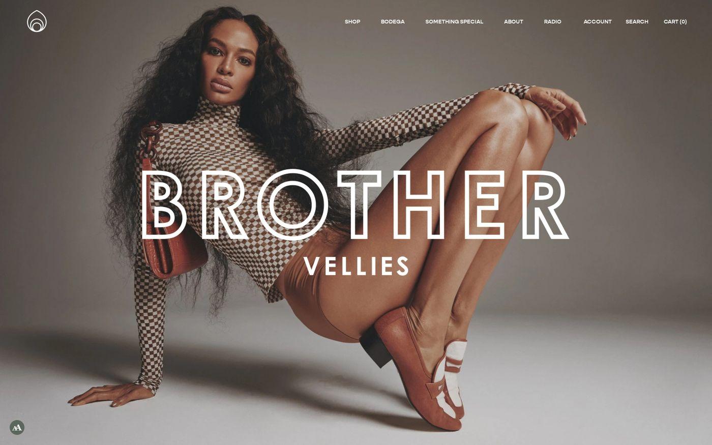 Screenshot of Brother Vellies website