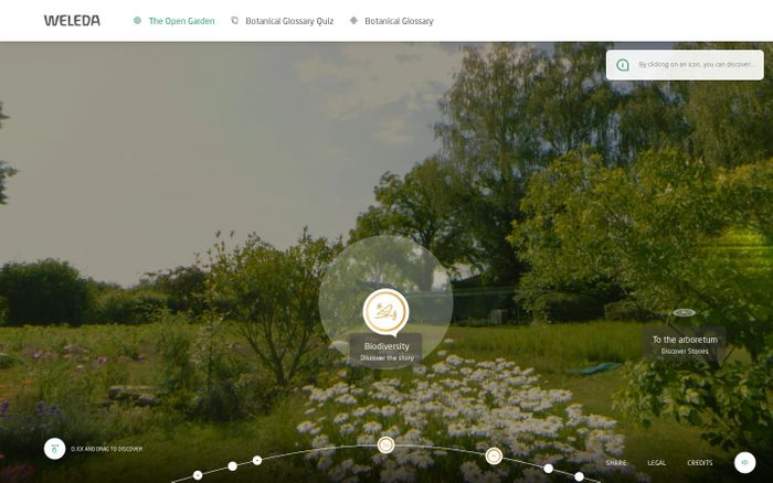 Screenshot of Open garden Weleda