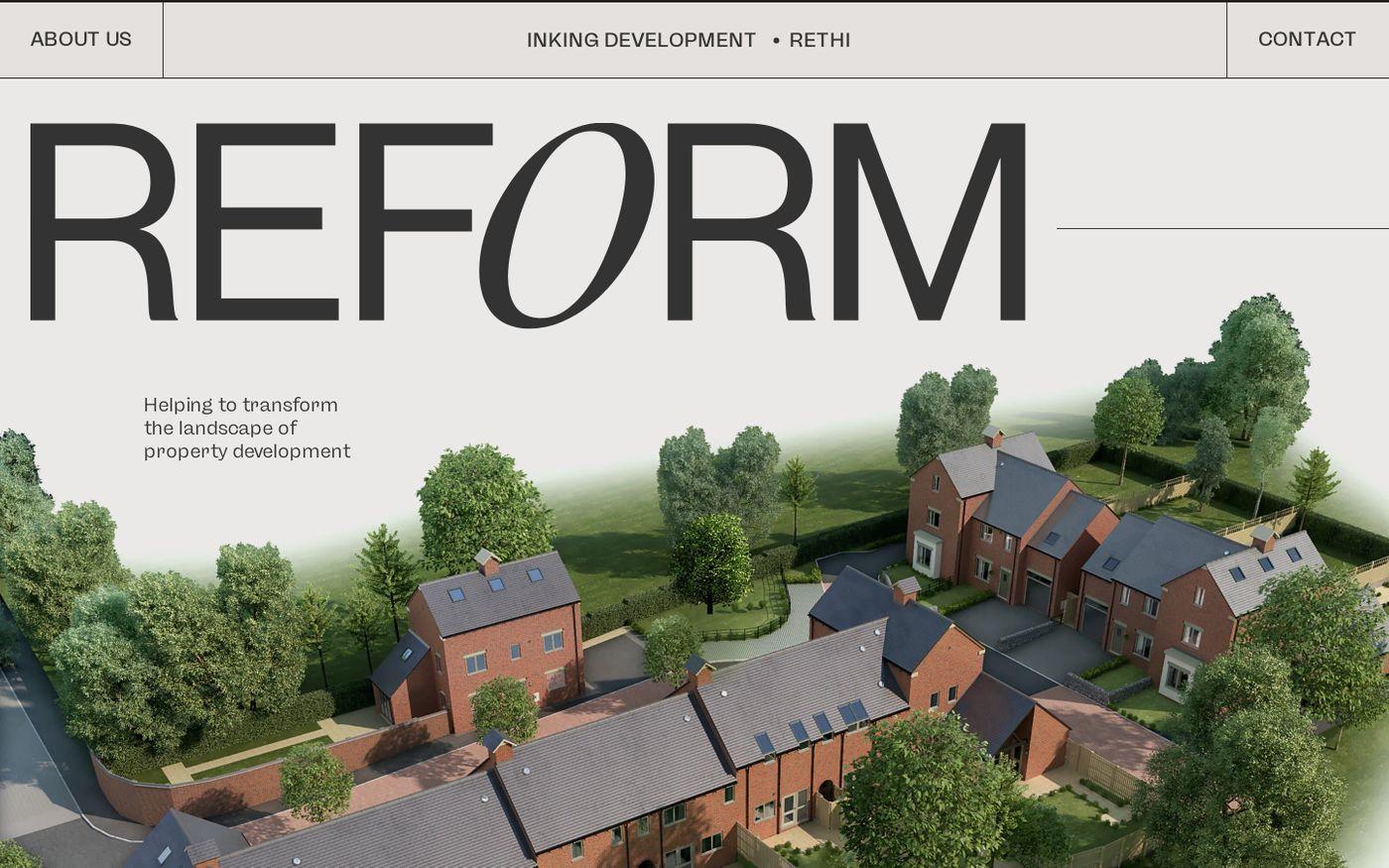 Screenshot of Reform website