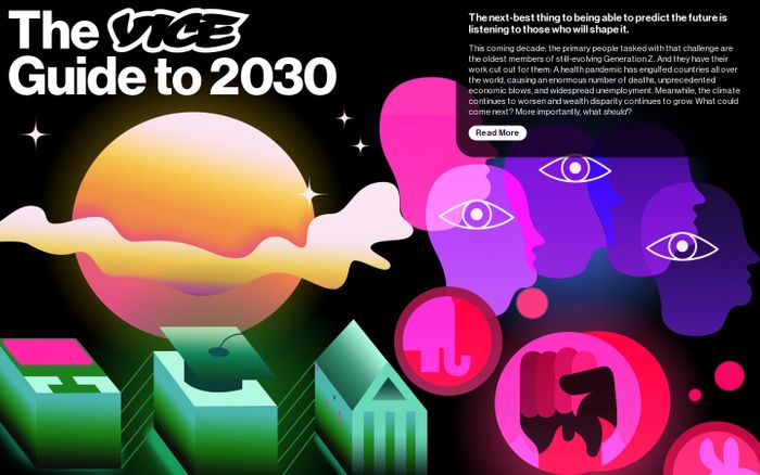Screenshot of The VICE Guide to 2030