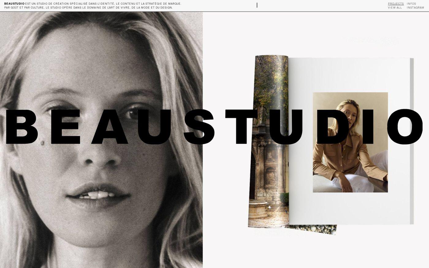 Screenshot of Beaustudio website