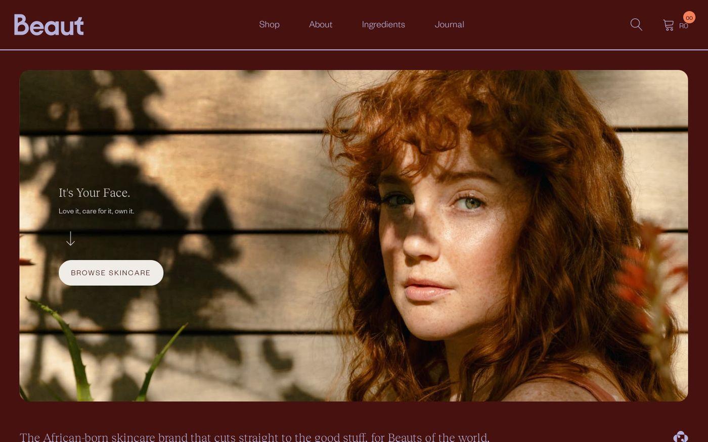 Screenshot of Beaut Serums website