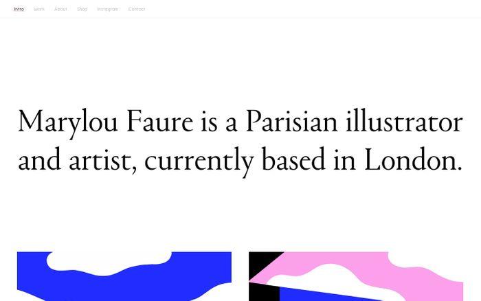 Screenshot of Marylou Faure
