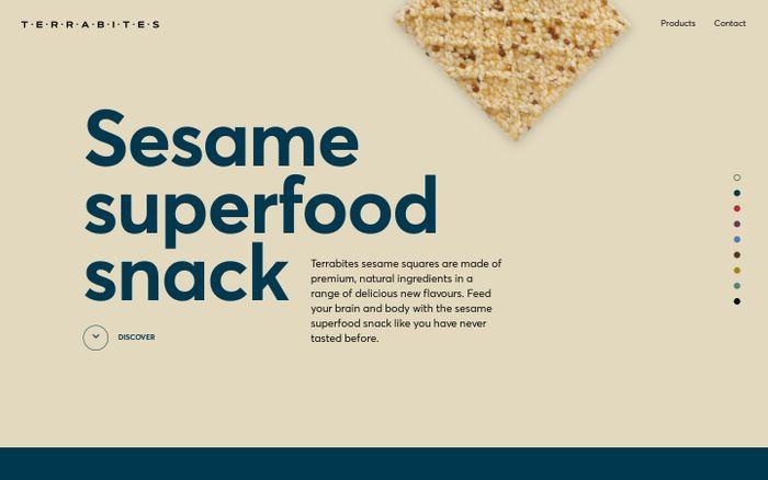 Screenshot of Sesame superfood snack | Terrabites