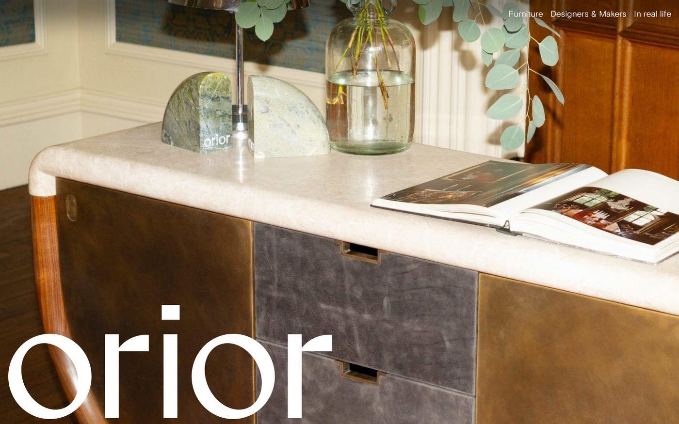 Screenshot of Orior Furniture website