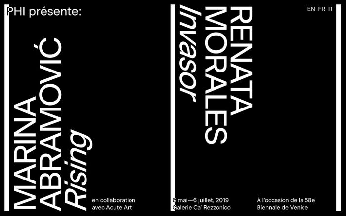 Screenshot of Phi présente deux expositions: Invasor par Renata Morales et Rising par Marina Abaromić