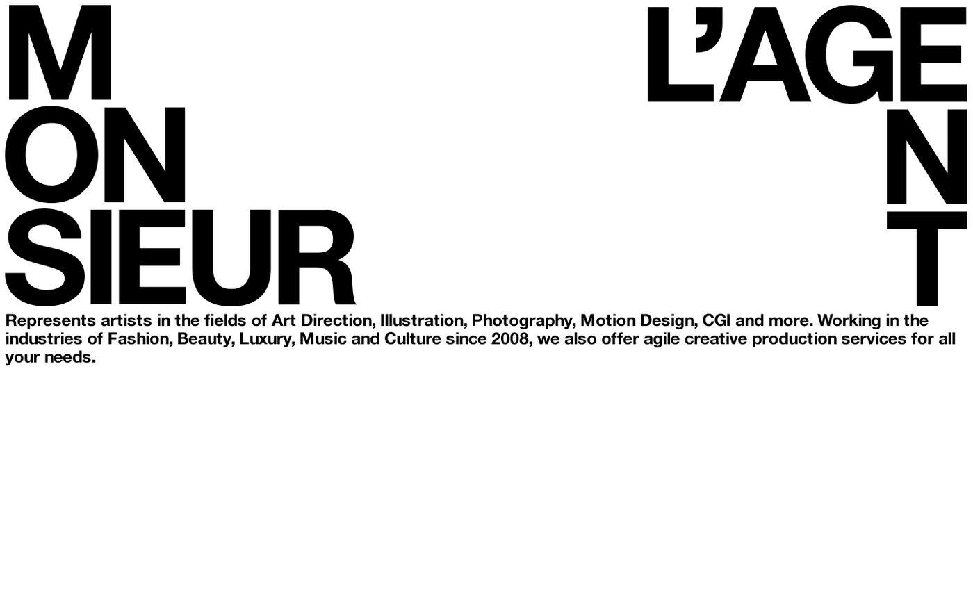 Screenshot of Monsieur l'Agent website