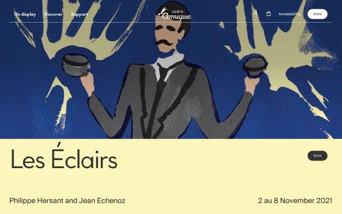 Screenshot of Opéra Comique website