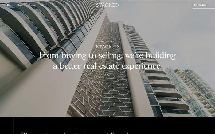 Screenshot of Stacked - A Modern Real Estate Platform & Editorial
