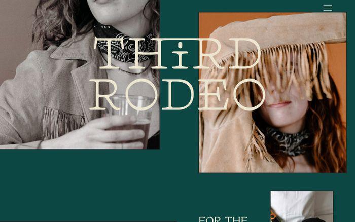 Screenshot of Third Rodeo Creative website