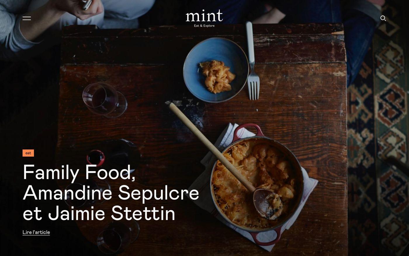 Screenshot of Mint Magazine website
