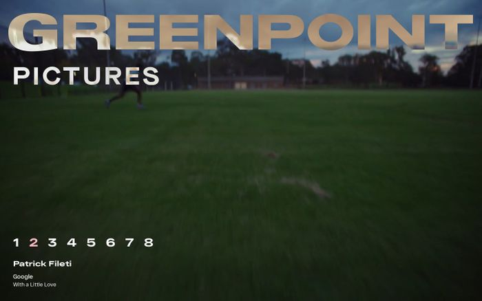 Screenshot of Greenpoint Pictures website