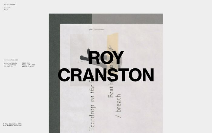 Screenshot of Roy Cranston website