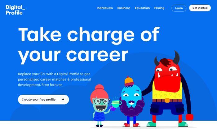 Screenshot of Digital Profile says…