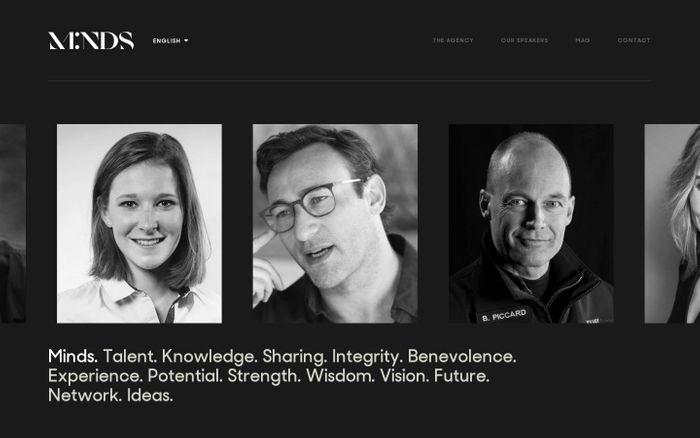 Screenshot of We Are Minds website