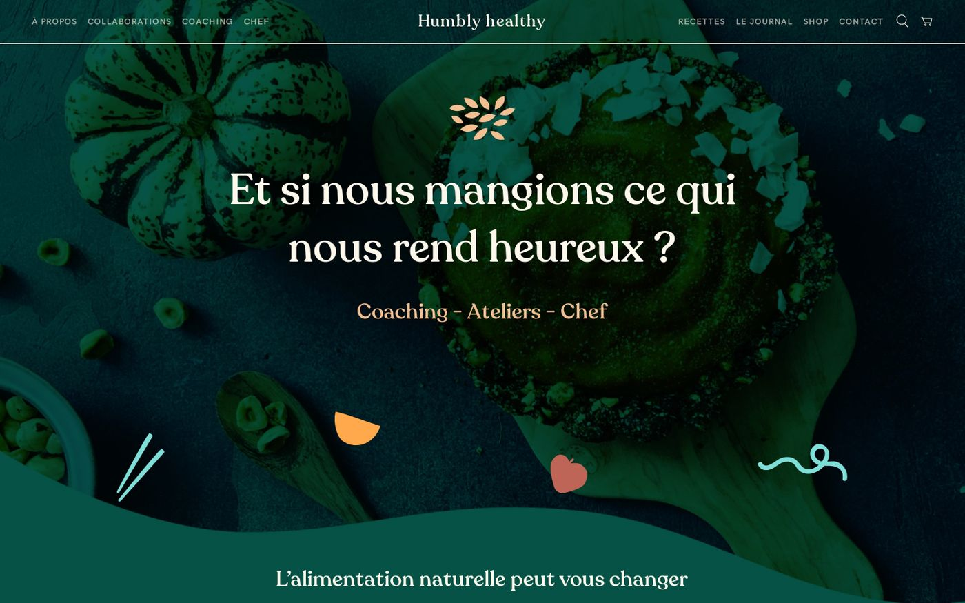 Screenshot of Humbly healthy website