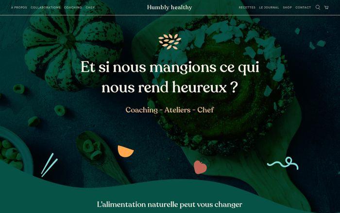 Screenshot of Humbly healthy | C'est bon et bon...