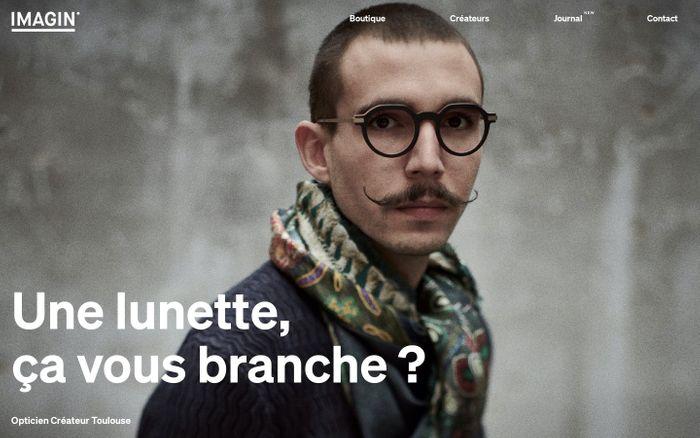 Screenshot of Opticien créateur à Toulouse, lunette vue et solaire / Imagin Optique