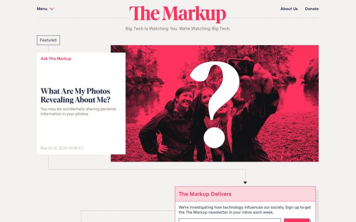 Screenshot of The Markup website