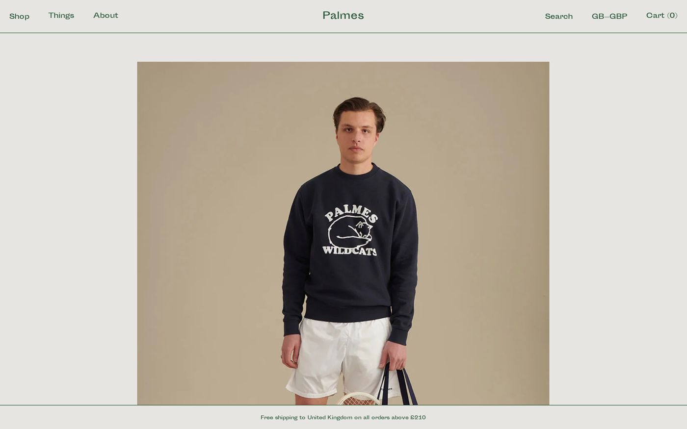 Screenshot of Palmes Tennis Society website