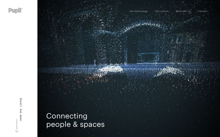 Screenshot of Pupil — Connecting people and spaces