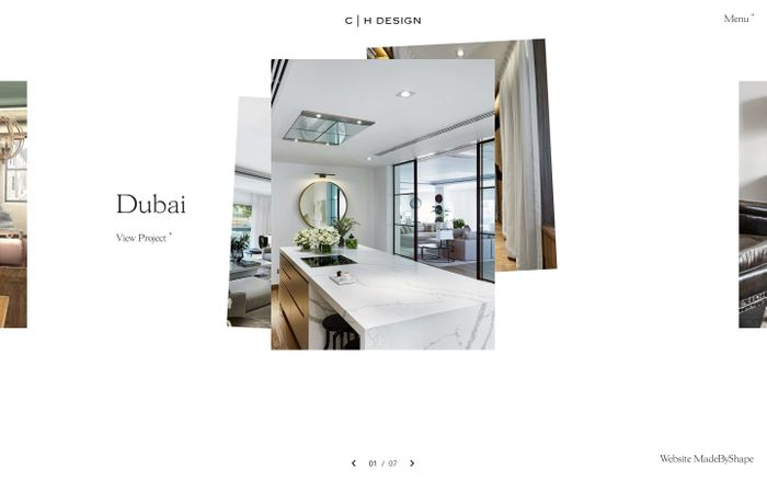 Screenshot of Charlie Horner Design | Interior Designer