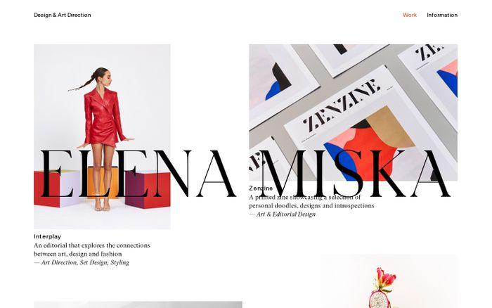 Screenshot of Elena Miska