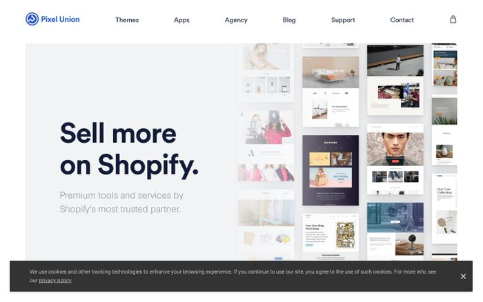 Screenshot of Pixel Union - Sell More on Shopify with Premium Tools & Services