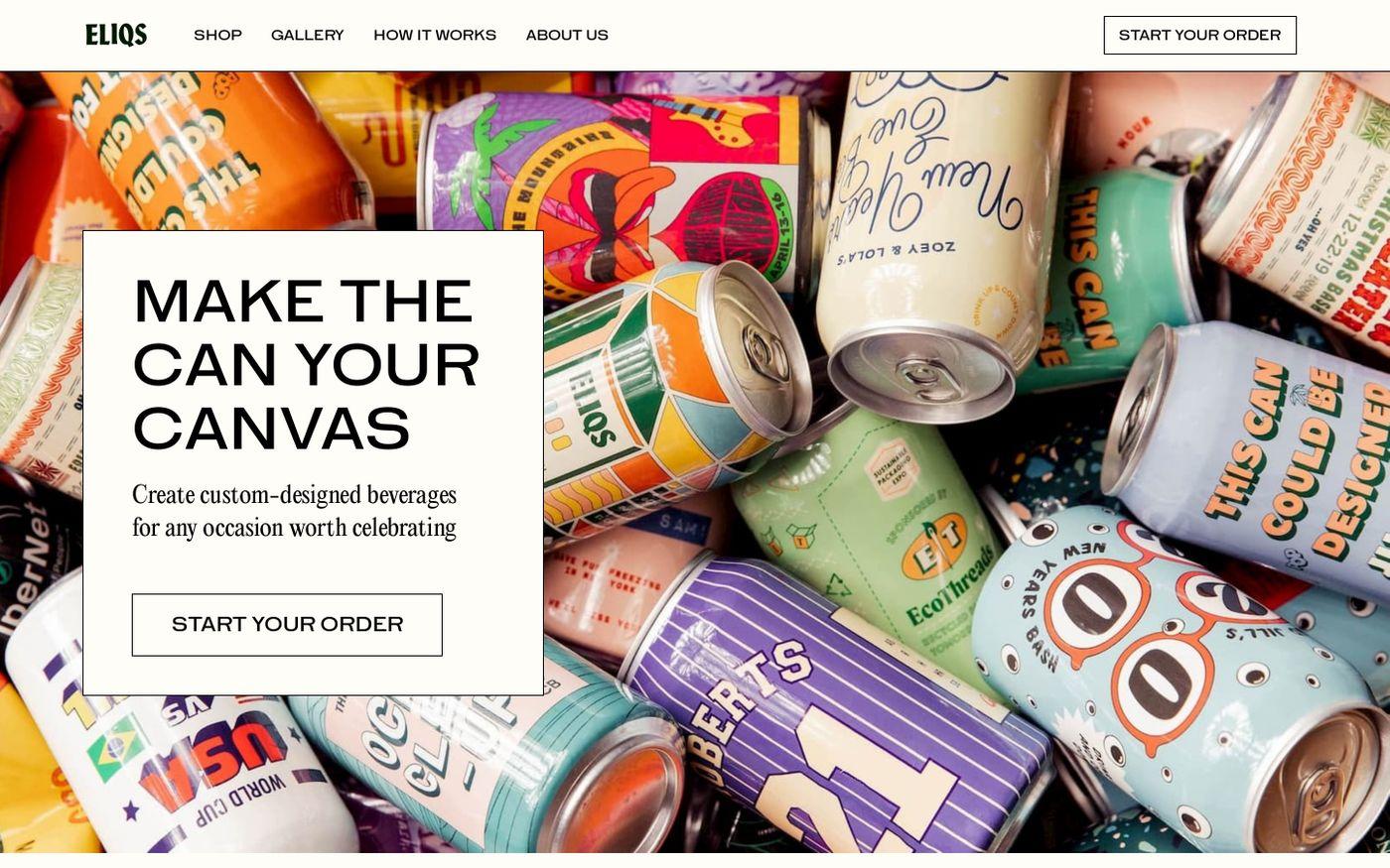 Screenshot of Eliqs website