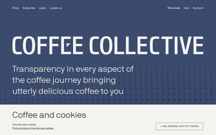 Screenshot of Coffee Collective