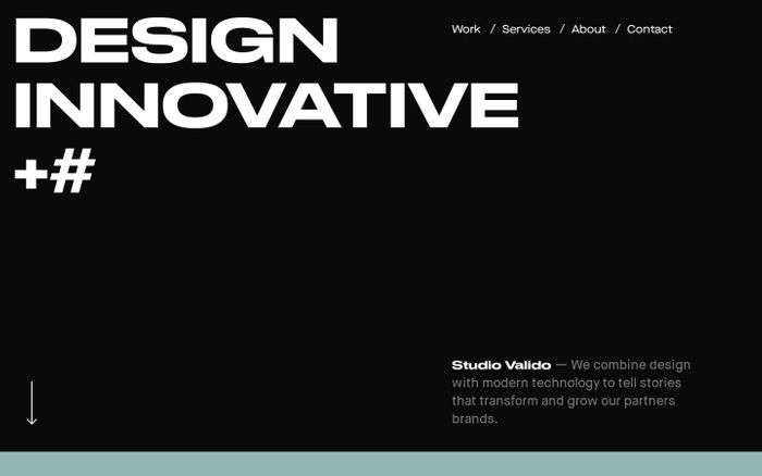 Screenshot of Studio Valido - Digital Product Design Studio