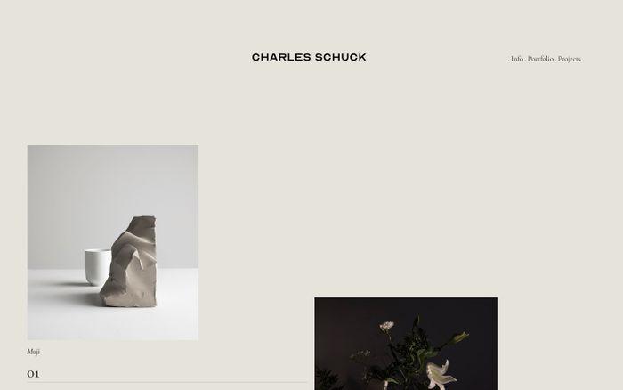 Screenshot of Charlie Schuck website