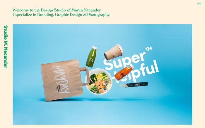 Screenshot of Design & Art Direction - Studio M. Necander