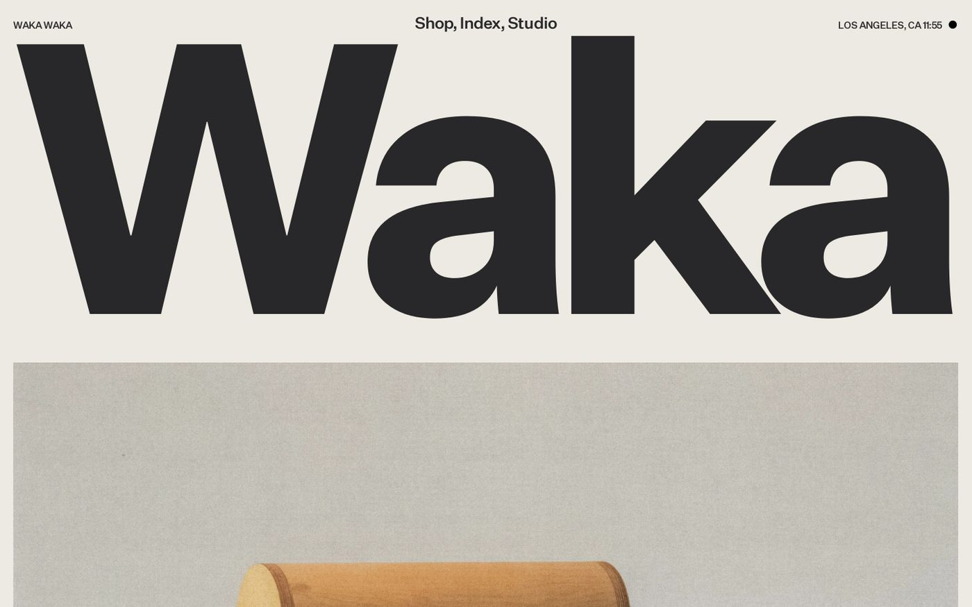 Screenshot of Waka Waka website