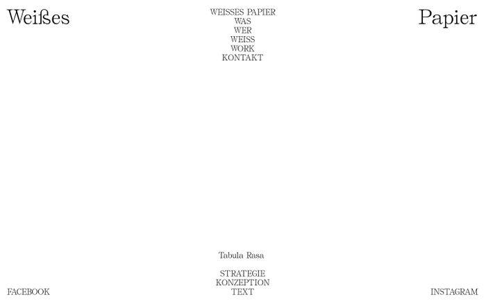 Screenshot of Weißes Papier