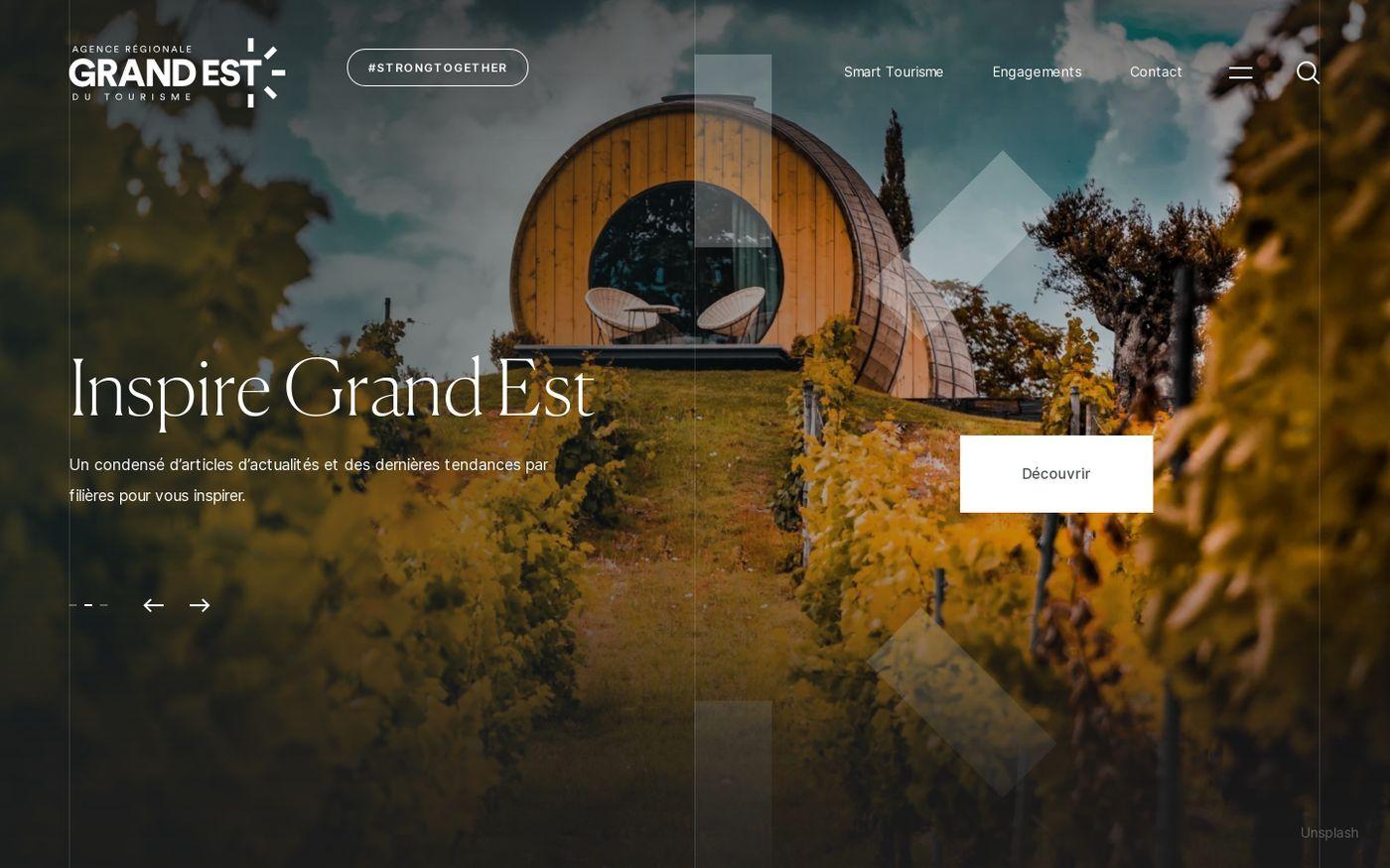 Screenshot of Agence régionale du tourisme Grand Est website