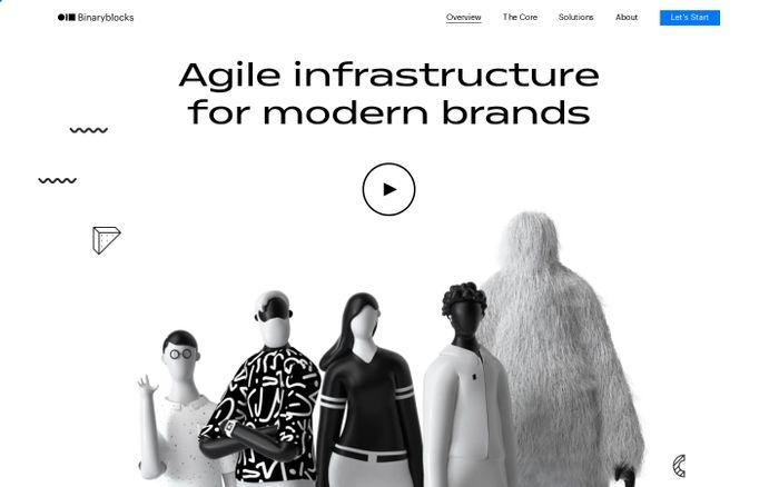 Screenshot of Binaryblocks | Agile infrastructure for modern Brands ?