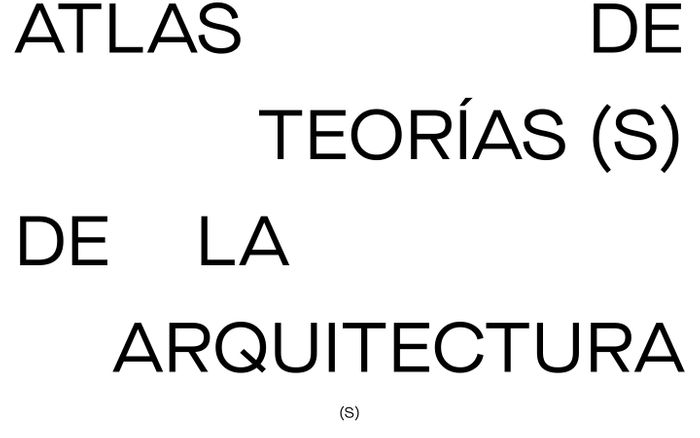 Screenshot of Atlas de teoría(s) de la arquitectura