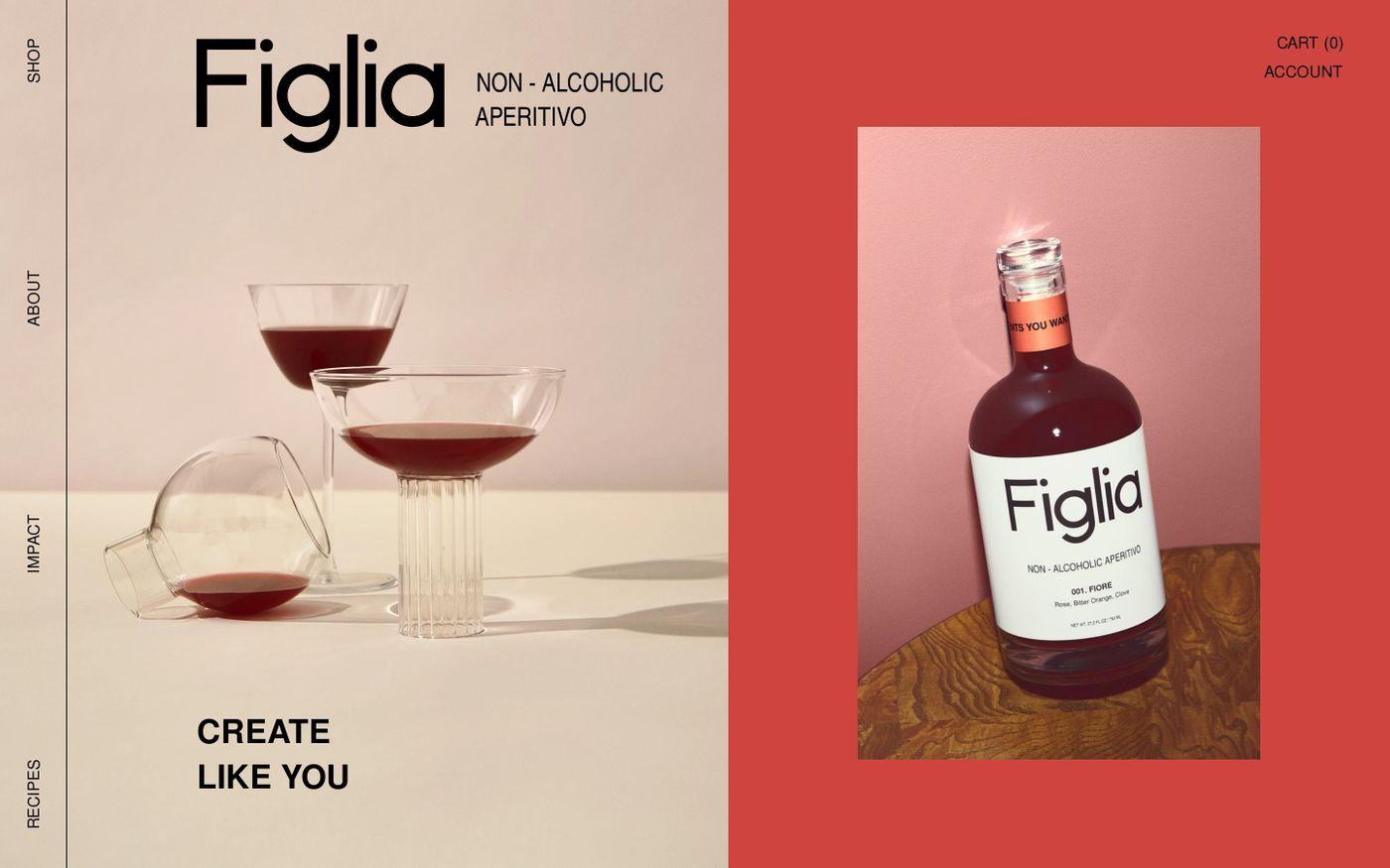 Screenshot of Drink Figlia website
